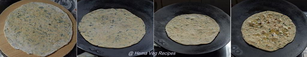 Methi Paratha or Parota Preparation