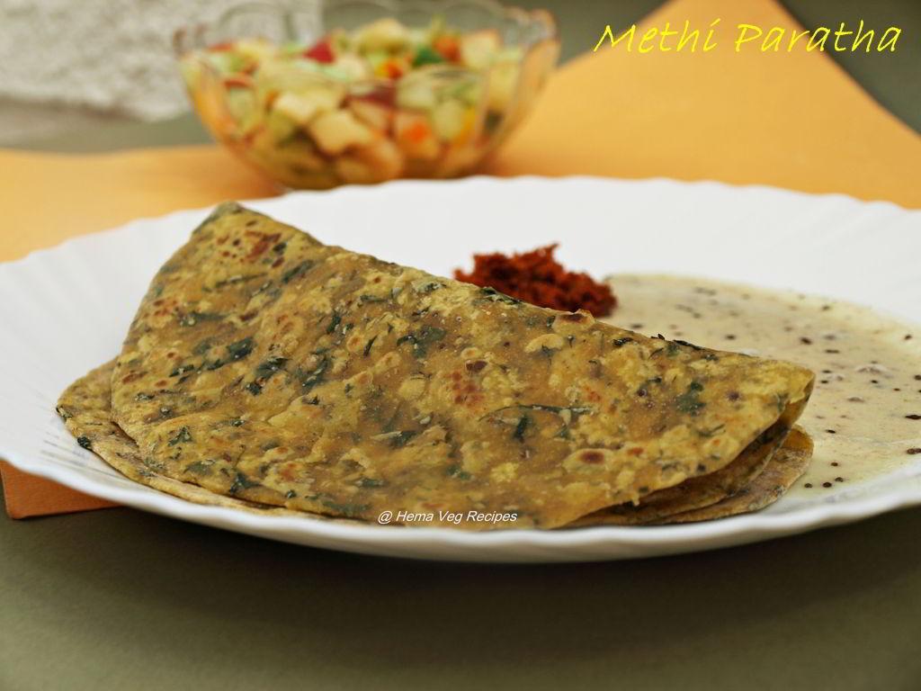 Methi Paratha or Parota