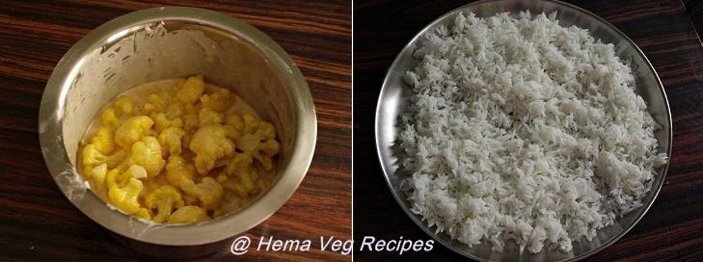 Gobi Rice or Cauliflower Rice Preparation