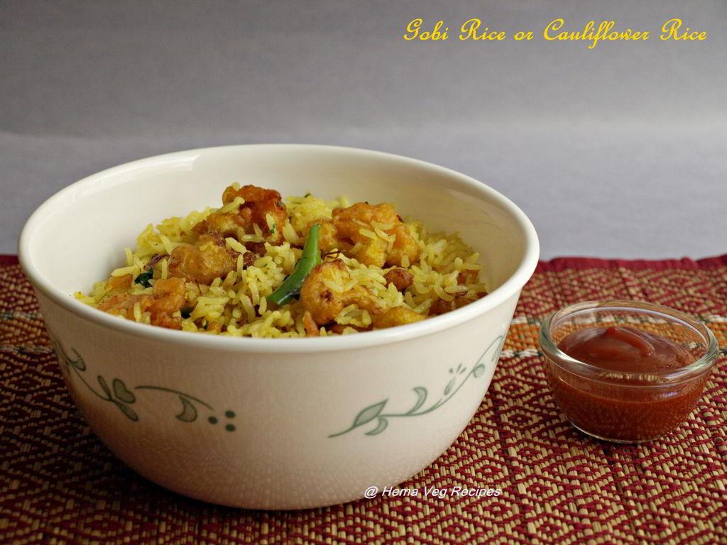 Gobi Rice or Cauliflower Rice