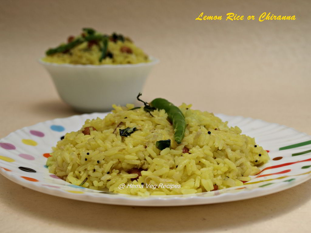Lemon Rice or Chitranna