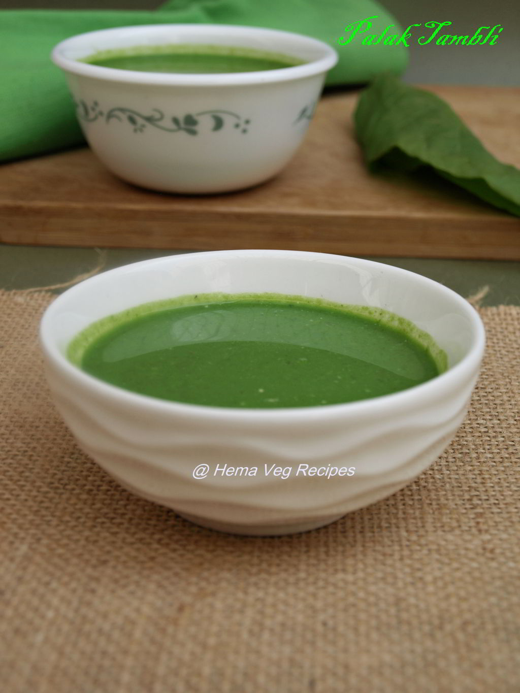 Palak or Spinach Tambli or Tambuli