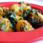 Aloo Methi Subzi or Fenugreek Potato Curry