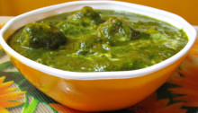 Aloo Palak or Potato Spinach Curry