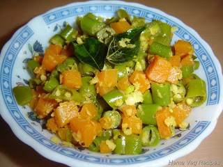Beans and Carrot Palya