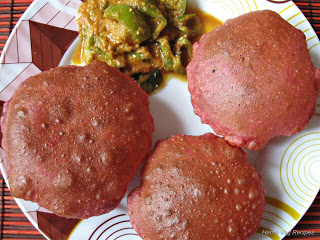Beetroot Poori or Puri