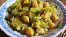 Cabbage Channa Sabji