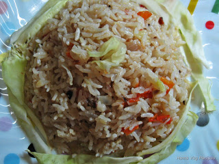 Cabbage Pulav or Pulao