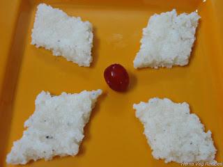 Coconut Burfi or Kobbari Mithai