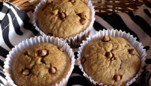 Eggless Banana Chocolate-Chip Muffins