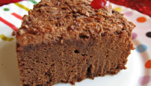 Eggless Chocolate Cake Slice
