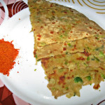 Green Peas Potato Paratha or Aloo Mutter Paratha