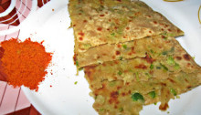 Green Peas Potato Paratha