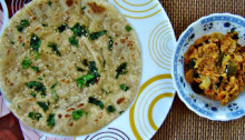 Kulcha with curry
