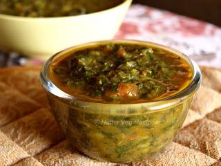 Methi Palak Curry or Fenugreek Spinach Curry