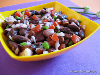 Mexican Salad or Rajma Salad