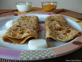 Mooli or Radish Paratha or Parota