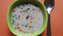 Oats Soup with Vegetables
