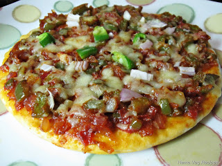Pizza with ready base
