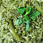 Pudina Pulav/Pulao or Mint Pulav/Pulao or Pudina Rice