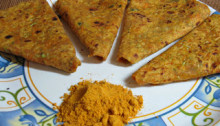 Vegetable Paratha or Parota