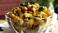 Balekai Palya or Raw Plantain Sabzi
