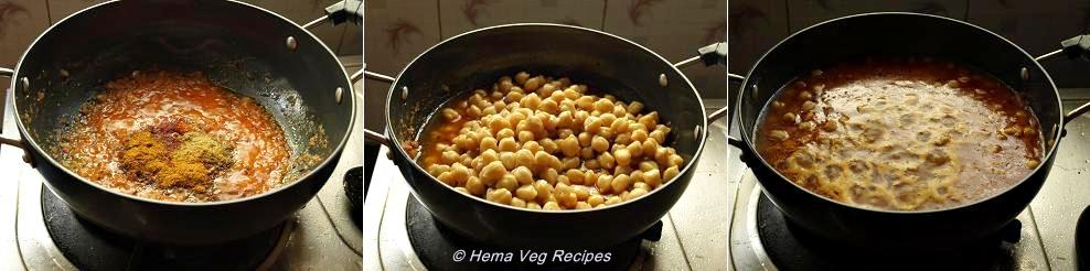 Channa Masala Preparation