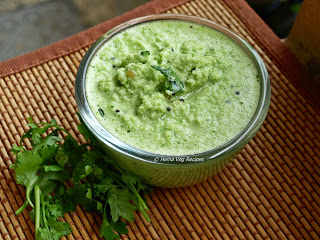 Coconut-Ginger-Coriander Leaves Chutney