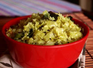 Cabbage Sabzi or Cabbage Poriyal