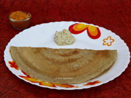 Green Moong Bean Dosa