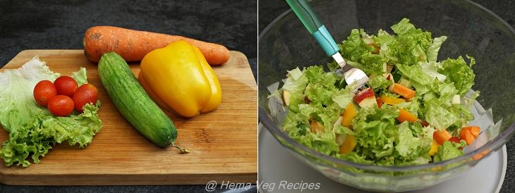 Healthy Salad With Parsley Dressing Preparation