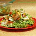 Healthy Salad with Parsley Dressing