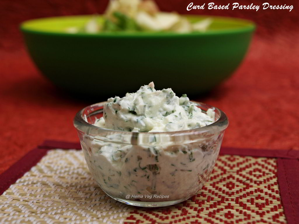 Curd Based Parsley Dressing