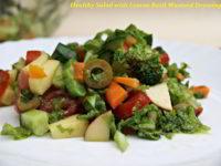 Healthy Salad with Lemon Basil Mustard Dressing