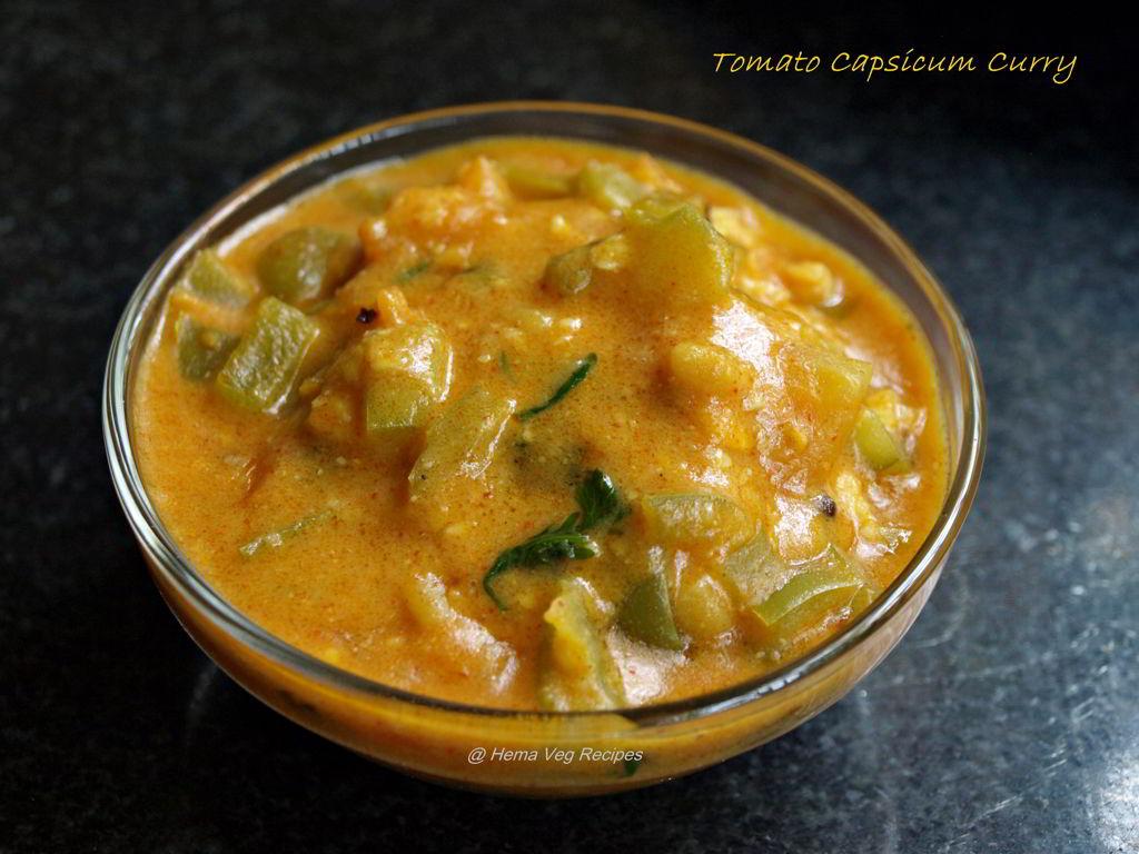 Tomato Capsicum Curry