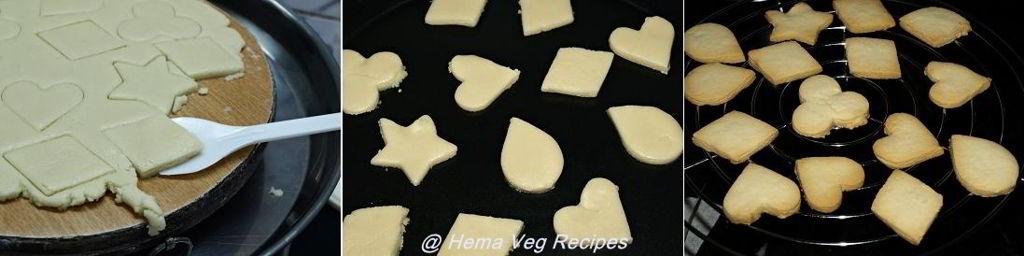 Eggless Shortbread Cookies Preparation