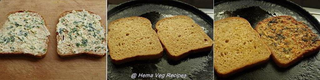 Garlic Bread On Tawa Preparation