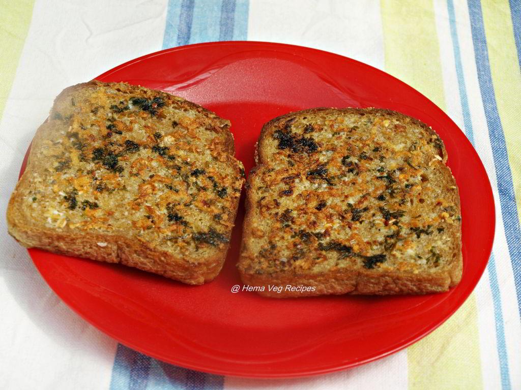 Garlic Bread on Tawa