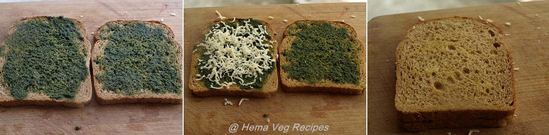 Green Chutney Sandwich Preparation