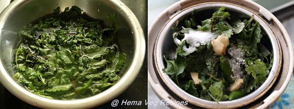 Green Chutney for Sandwiches Preparation