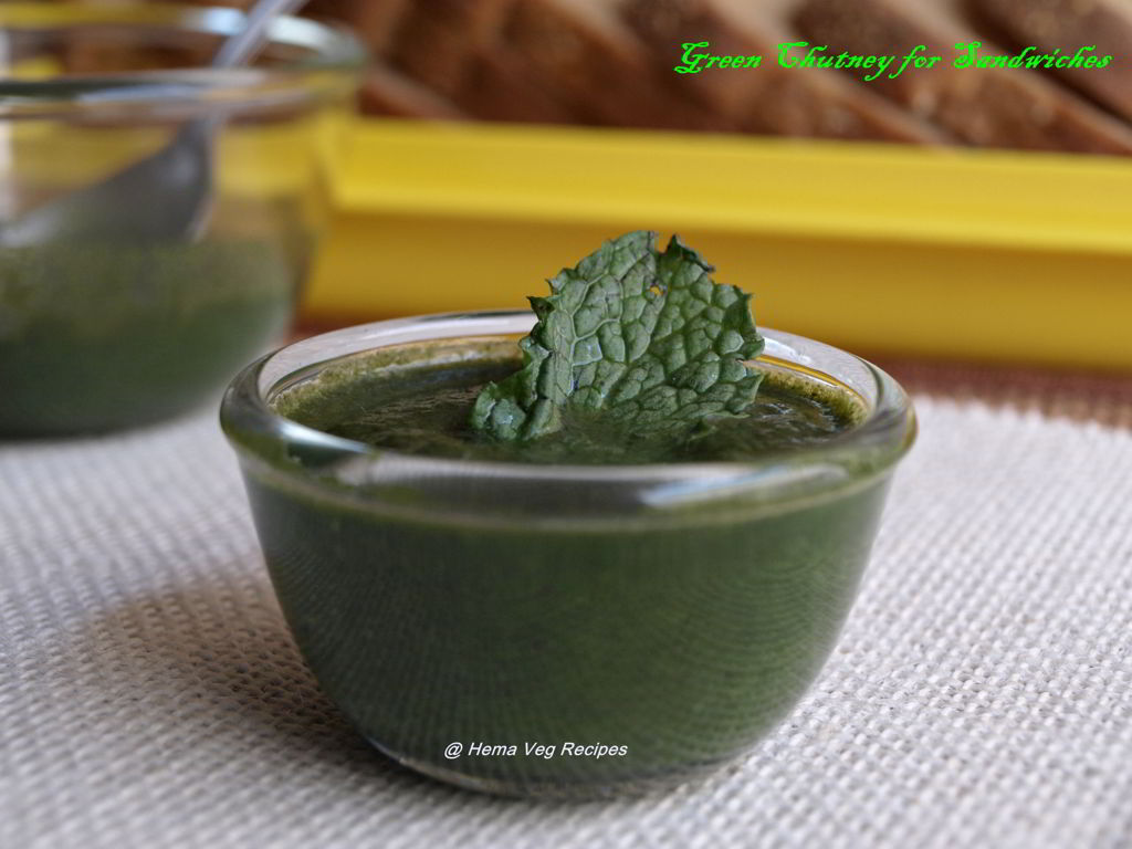 Green Chutney for Sandwiches