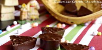 Homemade Crackle Chocolates or Rice Ball Chocolates