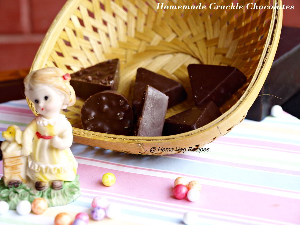 Homemade Crackle Chocolates or Rice Ball Chocolates
