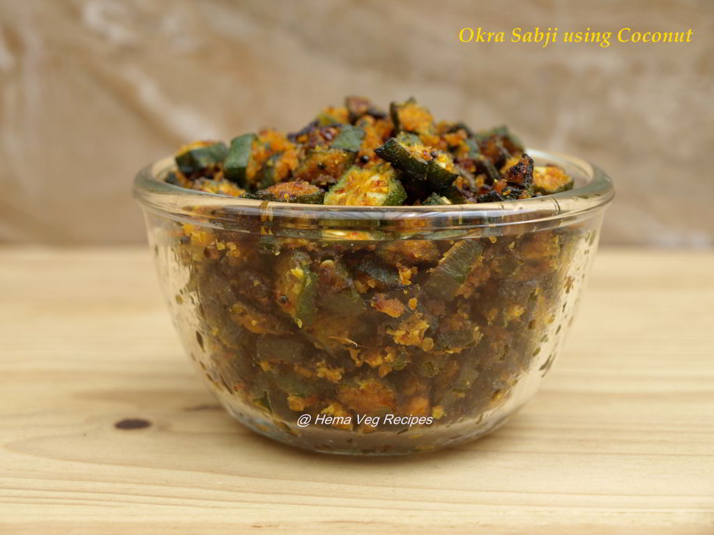 Okra Sabji using Coconut