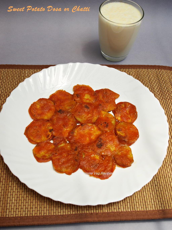 Sweet Potato Khara Dosa or Chatti