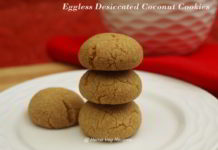 Eggless Dessicated Coconut Cookies
