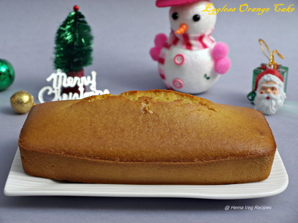 Eggless Orange Cake