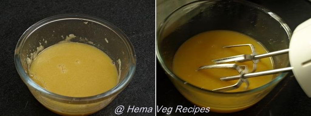 Eggless Orange Cake Preparation