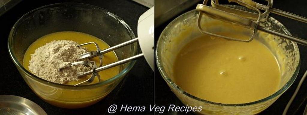 Eggless Orange Cake Preparation