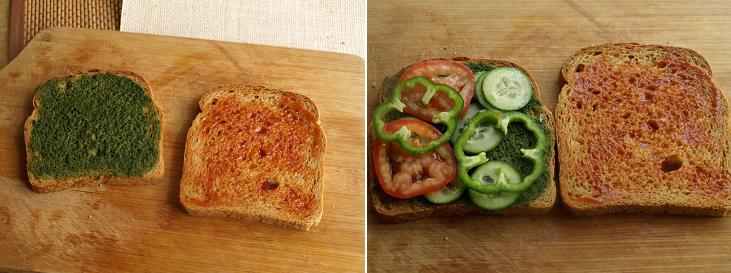 Vegetable Sandwich Preparation